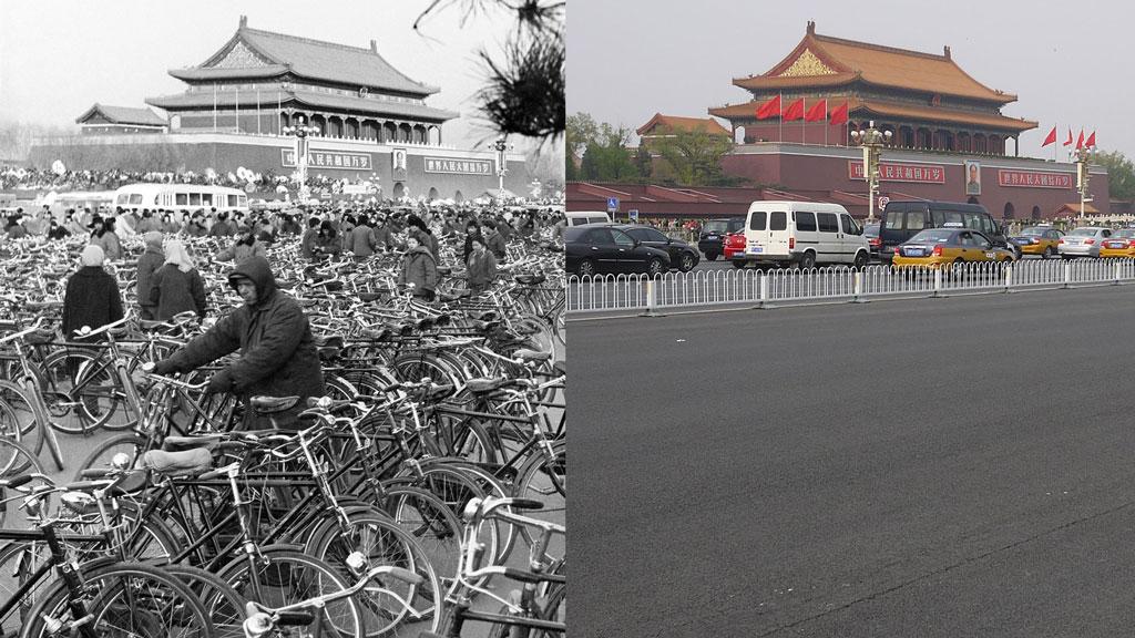 SmarterThanCar_2013_Bicycle-Urbanism_Tianamen-Gate_1977-2013